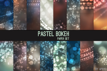 Bokeh Digital Paper 12x12 Printable Scrapbook Paper Texture Background