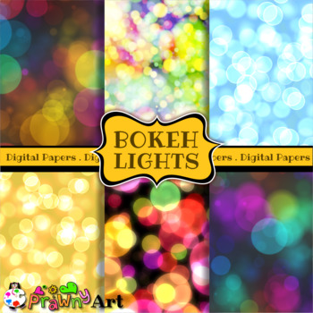 Bokeh Lights Digital Papers