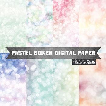 Bokeh Pastel Backgrounds for Easter