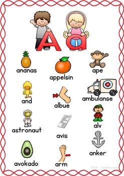 Bokstavplakater - Alfabetplakater