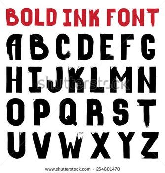 Bold Alphabet Letters (HUGE)