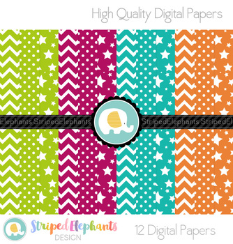 Bold Basic Digital Papers