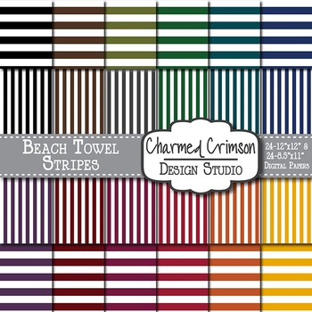Bold Beach Towel Stripes 1272