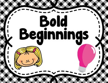 Bold Beginnings & Excellent Endings Posters Plus