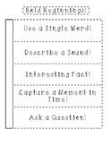 Bold Beginnings Notebook Flip Chart