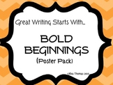 Bold Beginnings Poster Set