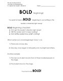 Bold Beginnings Writing Lesson