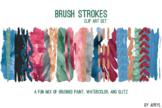 Bold Blend Brush Strokes Paint Glitter Foil Watercolor 20