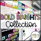 Bold Brights & Black and Whites Classroom Decor Bundle