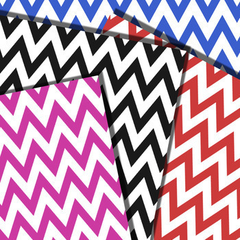 Bold Chunky Chevron Digital Papers