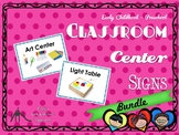 Bold, Clearly Written Center Signs for Preschool, Pre-K &