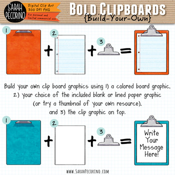 Bold Clipboards Clip Art - Build-Your-Own