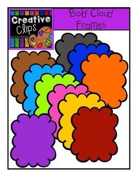 Bold Cloud Frames {Creative Clips Digital Clipart}