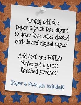 Cork Board with Stars Digital Paper