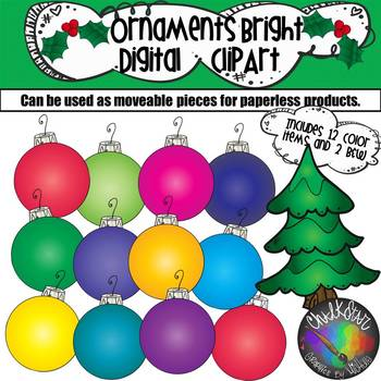 Bold Colorful Ornaments Moveable PNG Graphics