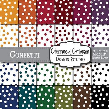 Bold Confetti Digital Paper 1465