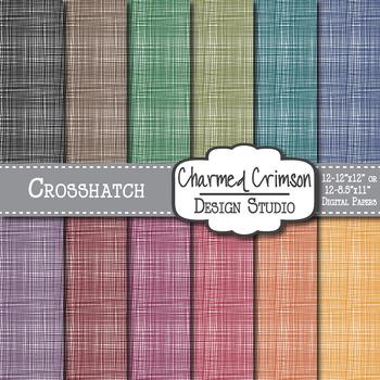 Bold Crosshatch Digital Paper 1046