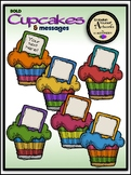 Bold Cupcake Messages Clipart
