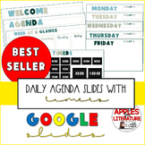 Bold Daily Agenda Slides with Timers (Beach Colors)