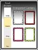 Bold & Fancy Spiral Frames Clipart