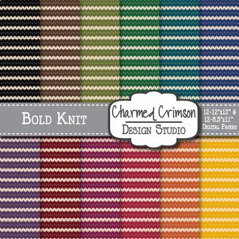 Bold Knit Digital Paper 1036