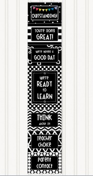 Bold Modern (Black and White) EDITABLE Behavior Clip Chart