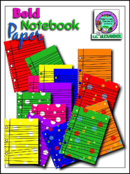 Bold Notebook Paper Clipart