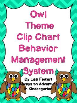 Bold Owls Theme Clip Chart Behavior Management System