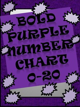 Bold Purple Number Chart 0-20