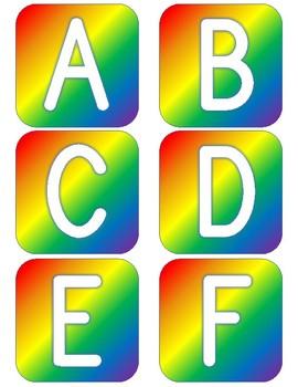 Bold Rainbow Alphabet