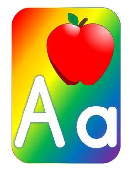 Bold Rainbow Alphabet Wall
