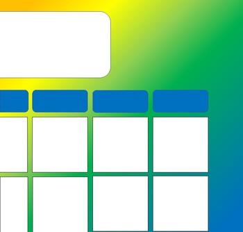 Bold Rainbow Calendar