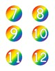 Bold Rainbow Mini Number Tiles