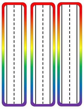 Bold Rainbow Name Plates
