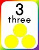 Bold Rainbow Number Tiles