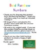 Bold Rainbow Numbers