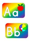 Bold Rainbow Word Wall