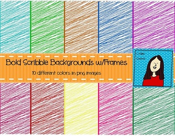 Bold Scribbles Backgrounds