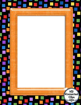 Bold Shiny Frames & Coordinating Papers Apples Flamingos Paper Airplanes