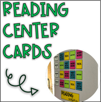 Bold Simple Reading Center Rotation Cards