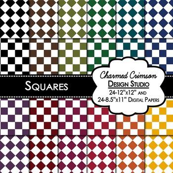 Bold Square Digital Paper 1328