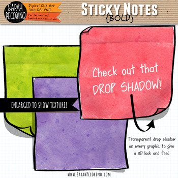 Bold Sticky Notes Clip Art
