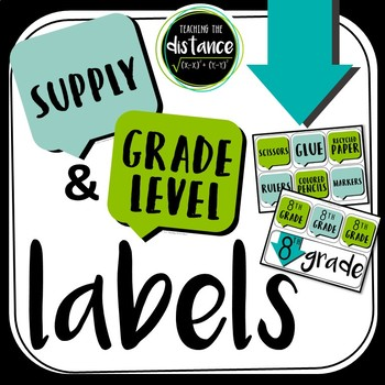 Bold Supply and Grade Level Labels
