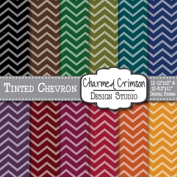 Bold Tinted Chevron Digital Paper 1203