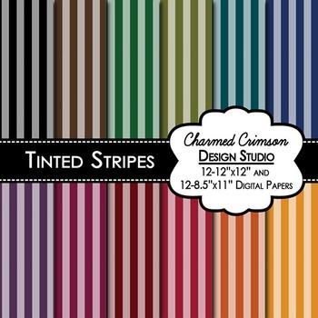 Bold Tinted Stripes Digital Paper 1226