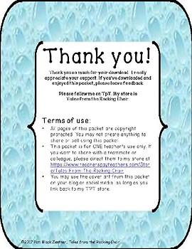 Bold Water Drop Classroom Supply Labels FREEBIE