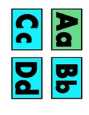 Bold Word Wall Display Letters--Blue and Green