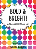 Polka Dots Classroom Decor Set: Editable with matching tea