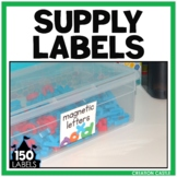 Bold and Bright Supply Labels with Pictures