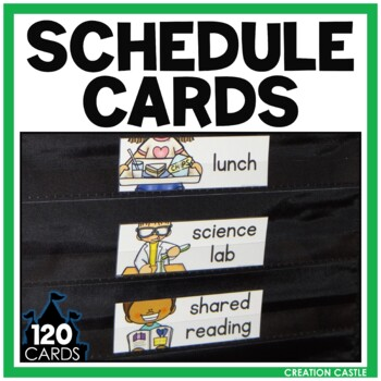 Bold and Bright Visual Schedule Cards